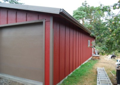 16B. Board and batten siding on this building.