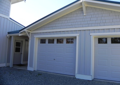 17. Custom two car garage