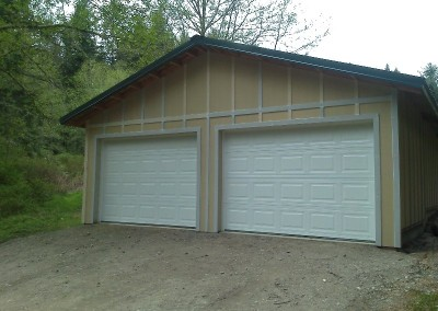 10. Two-car garage with details