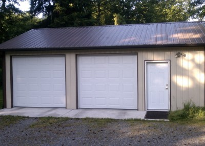 11. Two car garage with side