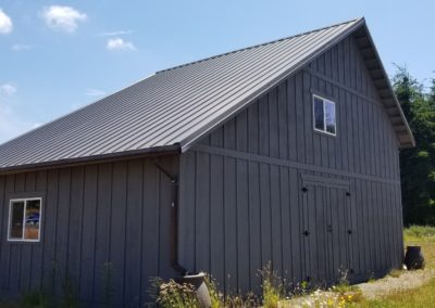 37B. Back of Saltbox barn and storage