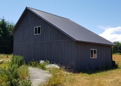 37. Saltbox barn and storage